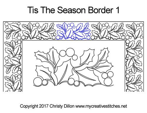 Tis the season border 1 quilting patterns