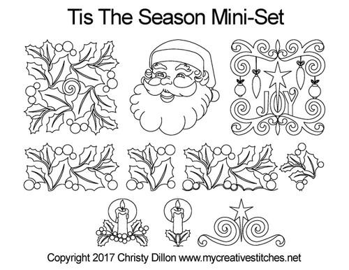 Tis the season digitized quilting design set