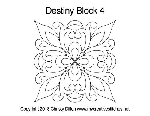 Destiny square block 4 quilt pattern