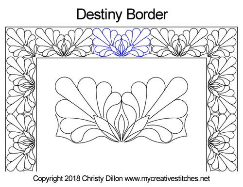 Destiny border quilting designs
