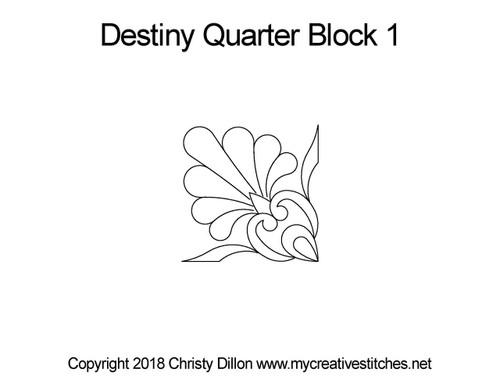 Destiny quarter block quilting design