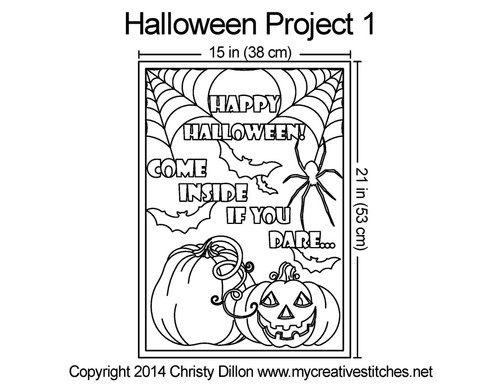 Halloween placemat free quilting project 1