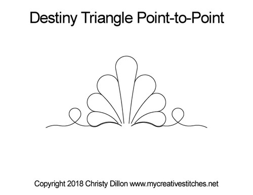 Destiny triangle point-to-point quilt pattern