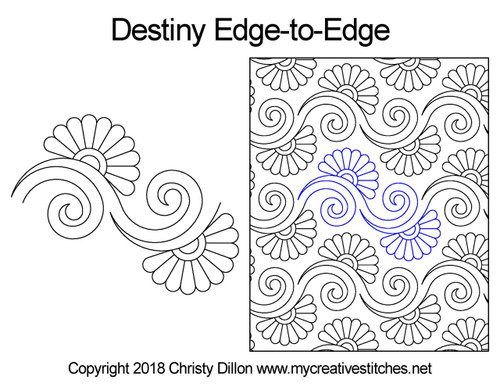 Destiny edge to edge quilt patterns