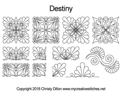 Destiny computerized quilt pattern set