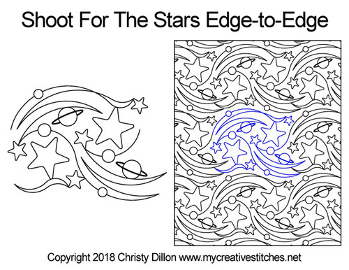 Shoot for the stars edge to edge designs