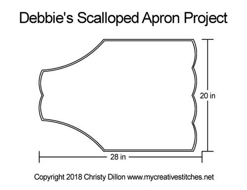 Debbie's scalloped apron quilt project
