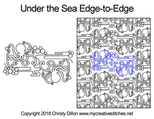 Under the sea edge to edge digital design