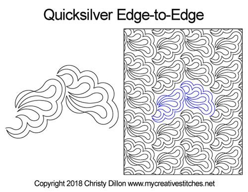 Quicksilver edge to edge computerized quilting