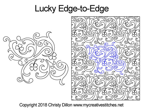 Lucky edge to edge longarm quilting patterns