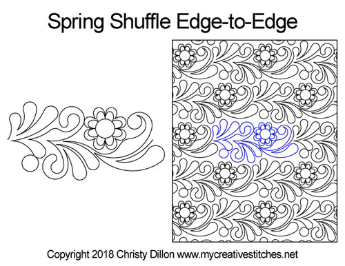 Spring shuffle edge to edge designs