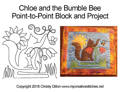 Chloe bumble bee p2p quilting project