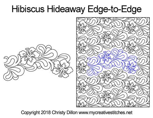 Hibiscus hideaway edge to edge designs