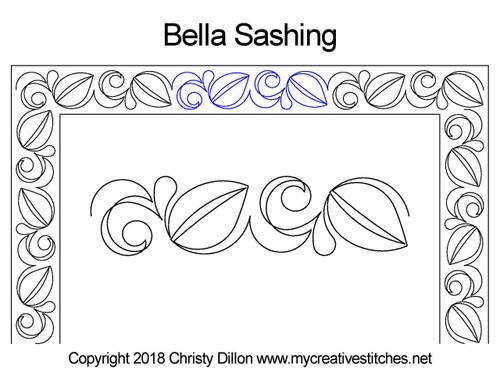 Bella Sashing quilt design