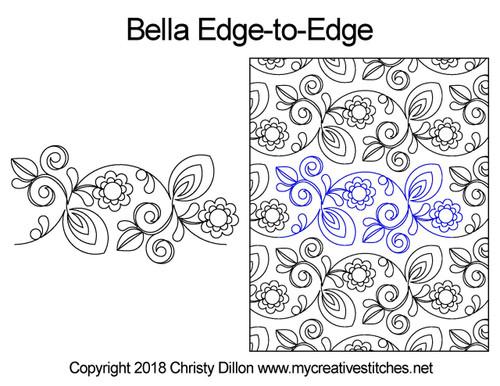 Bella edge-to-edge quilting pattern
