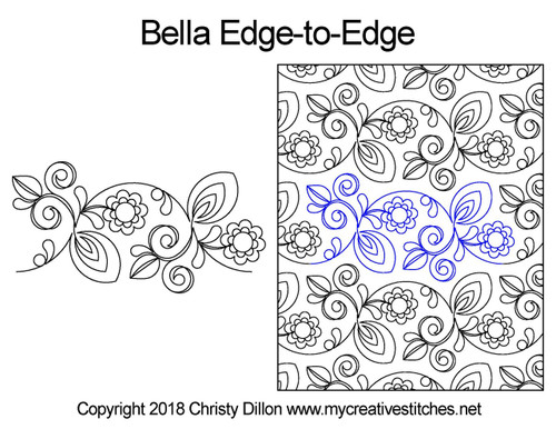 Bella edge-to-edge quilting pattern