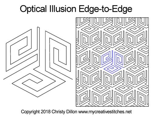 Optical Illusion Edge-to-Edge