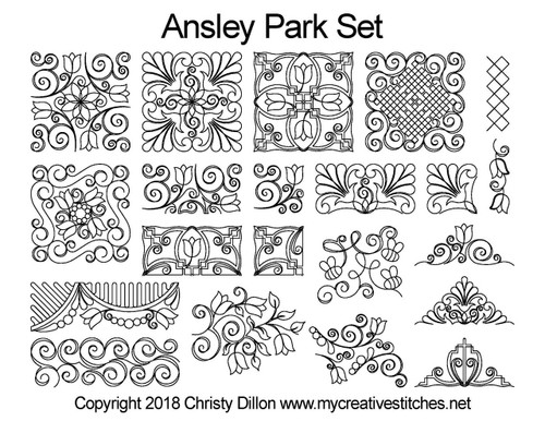 Ansley park long arm quilt patterns free