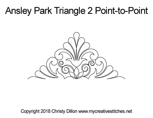 Ansley park triangle 2 p2p quilt pattern