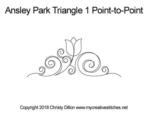 Ansley park triangle 1 p2p quilt design