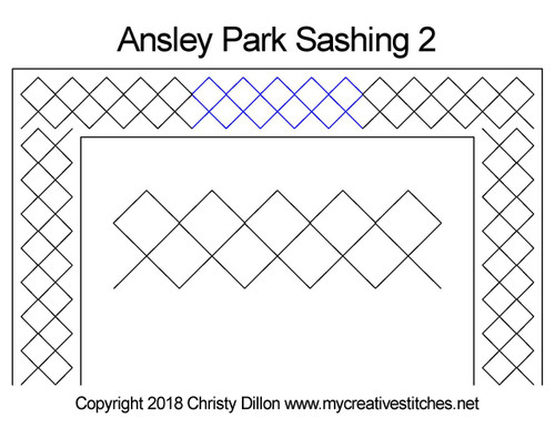 Ansley park sashing 2 quilt pattern