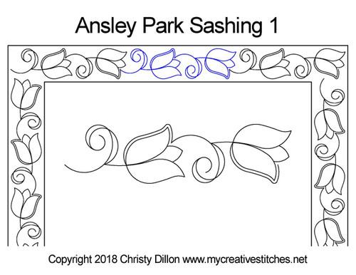 Ansley park sashing 1 quilt design