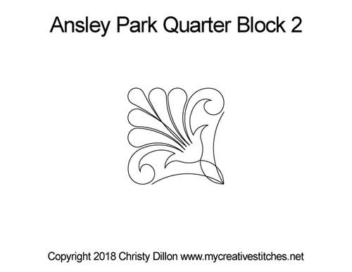 Ansley park quarter block 2 quilt pattern