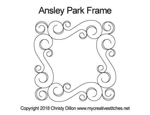 Ansley park frame quilt pattern
