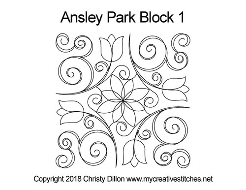 Ansley park block quilt pattern
