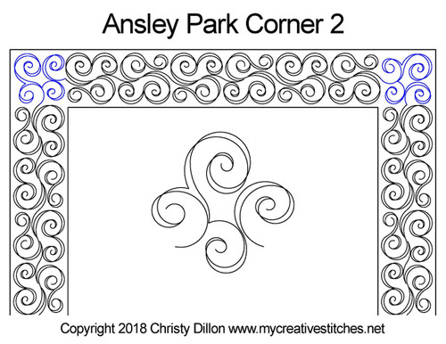 Ansley park corner 2 quilt pattern