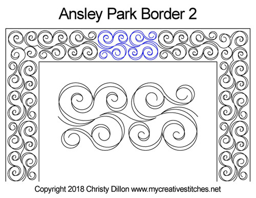 Ansley park border 2 quilting pattern