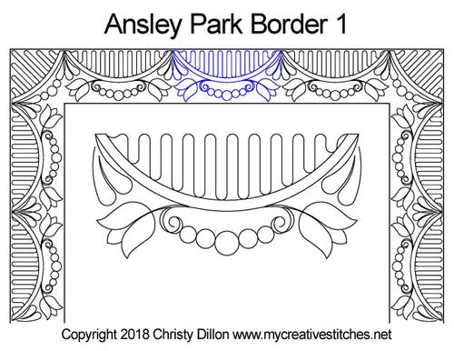 Ansley park border quilt pattern