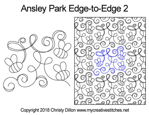 Ansley park edge to edge 2 quilting pattern