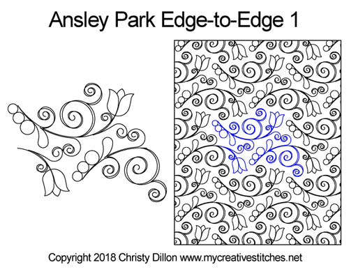 Ansley park edge to edge 1 quilting pattern