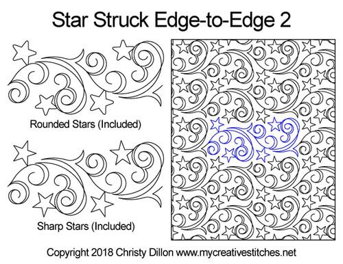 Star struck edge-to-edge 2 quilt design