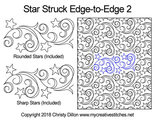 Star struck edge-to-edge 2 quilt design