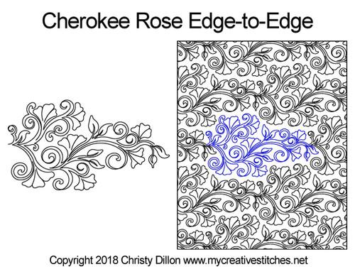 Cherokee rose edge to edge designs