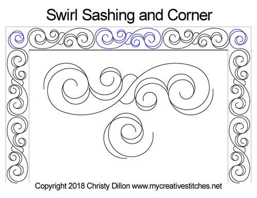 Swirl sashing & corner quilting ideas