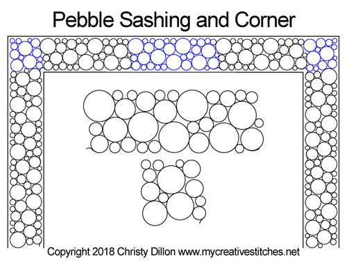 Pebble sashing & corner digital quilt ideas