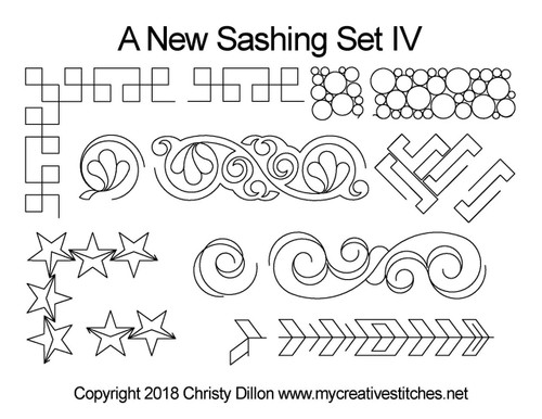 A new digitized sashing quilt pattern