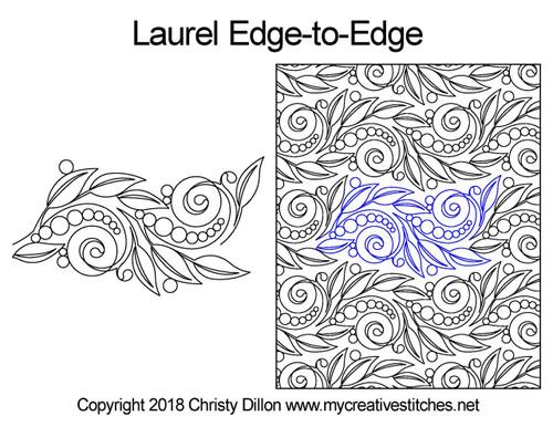Laurel edge-to-edge quilt design