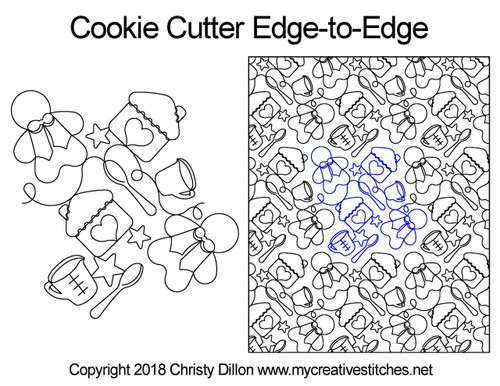 Cookie cutter edge to edge quilt patterns