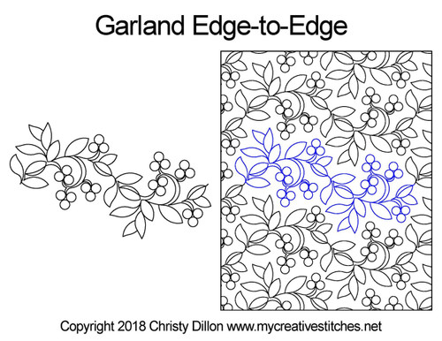 Garland edge to edge digital quilting