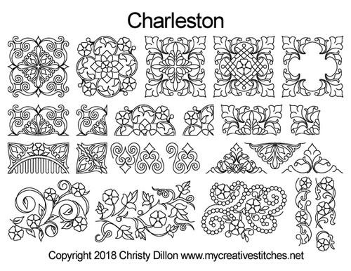 Charleston free digital quilting designs