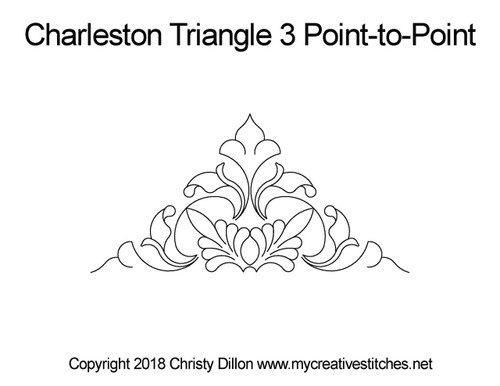 Charleston triangle point to point quilt pattern