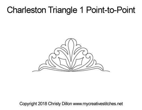 Charleston triangle 1 p2p quilt pattern