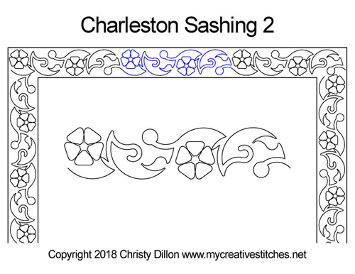 Charleston sashing 2 quilt design