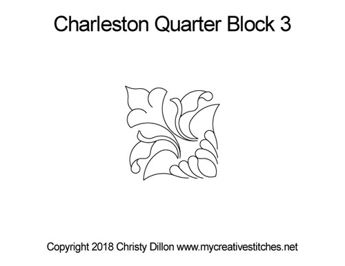 Charleston quarter block quilt pattern