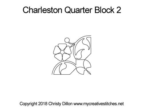 Charleston quarter block quilt pattern