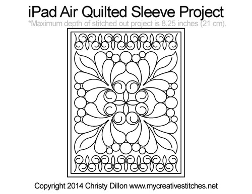 iPad Air Quilted Sleeve Project
